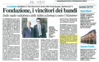 Vincitori dei Bandi Fondazione Carisbo